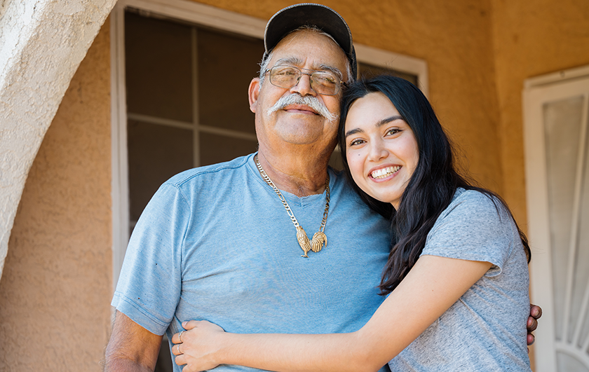 L.A. Care Medical School Scholar Geena and her grandfather