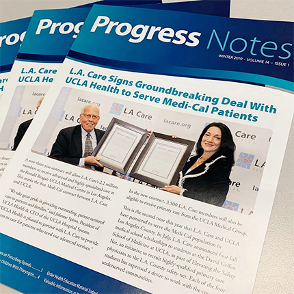 3 copies of the Progress Notes newsletter